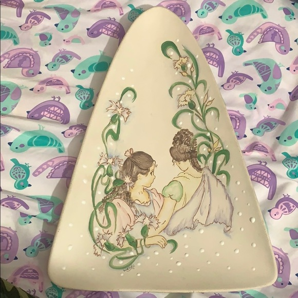 Painted Twins Girls Pottery Magical Hand-painted